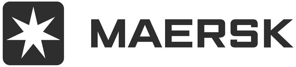 Maersk's logo, a Danish integrated shipping company